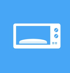 Microwave on blue background vector image vector image