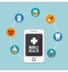 Mobile health design vector