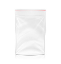 plastic polyethylene pocket bag blank vector image