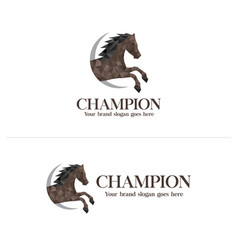 Polygon horse logo vector