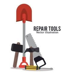 Repair tools construction design vector