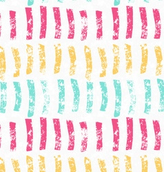 Rough brush green pink and yellow vertical paint vector image