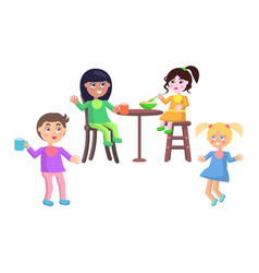 Set of children characters happy mother day set vector