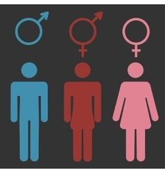 Set of gender symbols vector image vector image