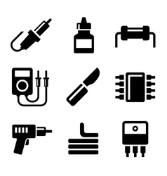 Solder icons set vector