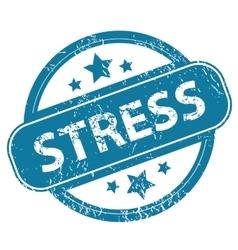 STRESS round stamp vector image