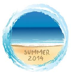 Summer 2014 holiday card vector image