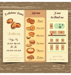 Template booklet bakery vector