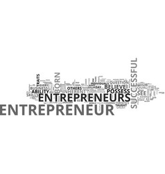 What does it take to be an entrepreneur text word vector
