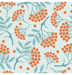 Winter seamless pattern with stylized rowan vector