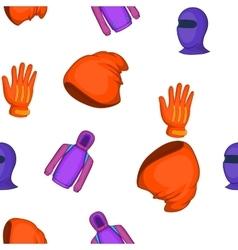 Winter sportswear pattern cartoon style vector image