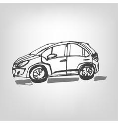 01 car sketch vector