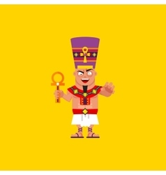 King of egypt pharaoh character for halloween in vector