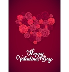 Happy Valentines Day White Lettering B ackground vector image