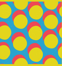 Pop-art style seamless print yellow circles and vector