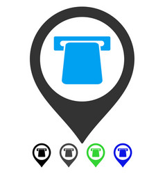 Atm map pointer flat icon vector