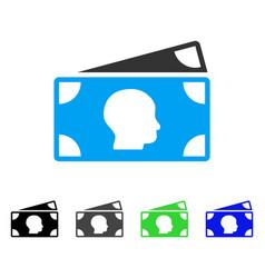 Banknotes flat icon vector