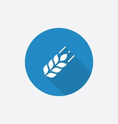 Agriculture flat blue simple icon with long shadow vector