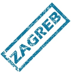Zagreb rubber stamp vector