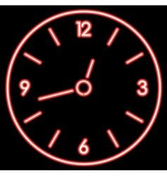 Neon clock vector