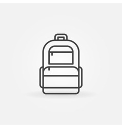 Backpack logo vector