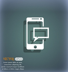 Message sms sign mails navigation button on the vector