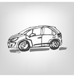 01 Car sketch vector image