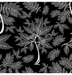 seamless tree pattern 012 vector image