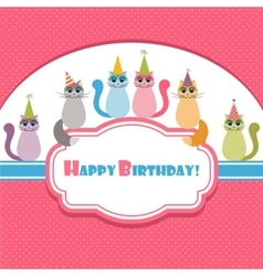 card with cats vector image