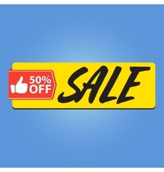 Sale 50 percent off vector
