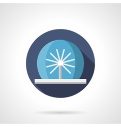 Radial fountain flat color icon vector