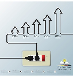 Arrow electric wire business infographic vector