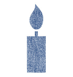 candle fabric textured icon vector image