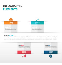 colorful business timeline infographics elements vector image vector image