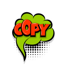 Copy comic text white background vector