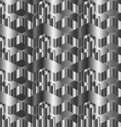 Corrugated metal texture vector image vector image
