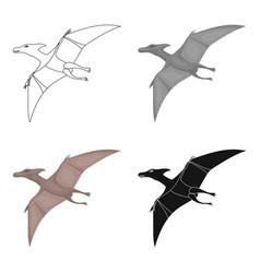 dinosaur pterodactyloidea icon in cartoon style vector image vector image
