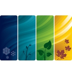 Four abstract backgrounds vector