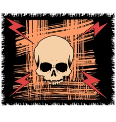 Grange background with scull and lightning vector image