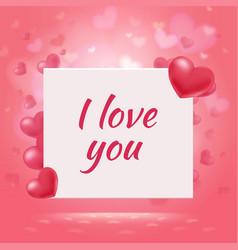 happy valentines day romantic background vector image