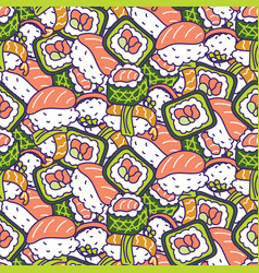 japan food traditional seamless pattern vector image