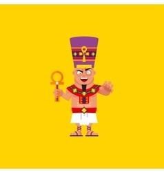 King of egypt pharaoh character for halloween in vector