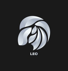 Leo Horoscope Icon vector image vector image