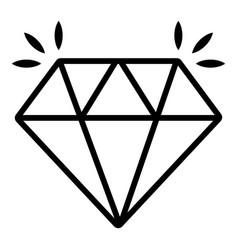 mine diamond icon outline style vector image