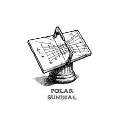 polar sundial vector image vector image