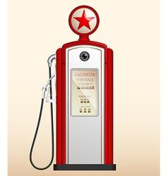red vintage gas station vector image