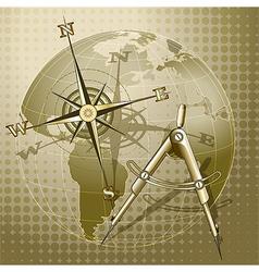 Retro navigation vector image vector image