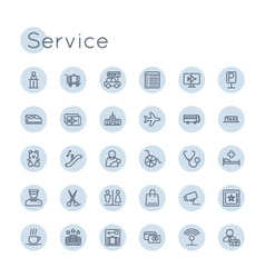 Round service icons vector
