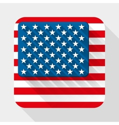 Simple flat icon with USA flag vector image vector image