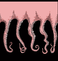 sketched tentacles hand drawn tentacles vector image